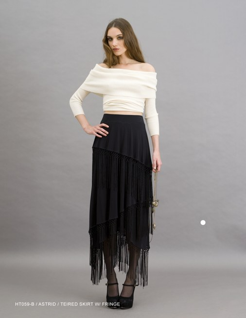 Holy Tee Holiday 2011 Collection - HT059-B / Astrid / Tiered Skirt with Fringe