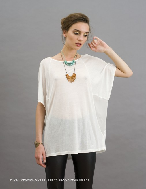 Holy Tee Holiday 2011 Collection - HT063 / Arcana / Gusset Tee with Silk Chiffon Insert