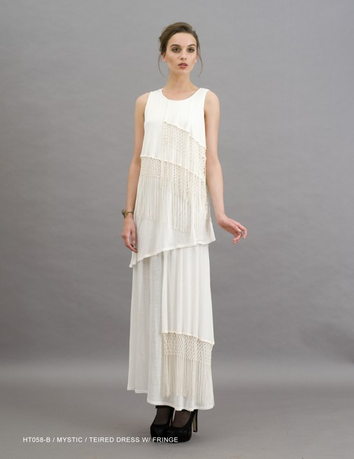 Holy Tee Holiday 2011 Collection - HT058-B / Mystic / Tiered Dress with Fringe