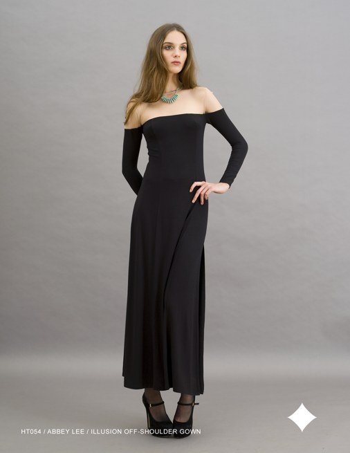 Holy Tee Holiday 2011 Collection - HT054 / Abbey Lee / Illusion Off-Shoulder Gown